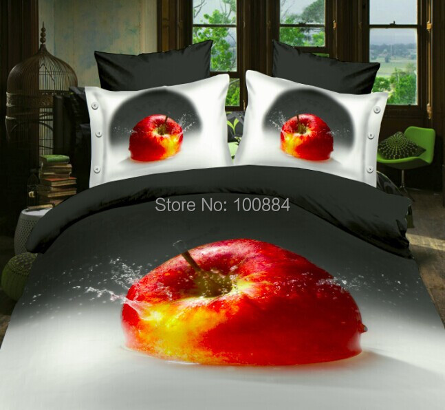 Fruit Apple Bedding Sets 3d,4pc Bedding Sets Without Filler,red Apple Fruit  Bedspreads,queen Size Apple Bedclothes In Bedding Sets From Home U0026 Garden  On ...