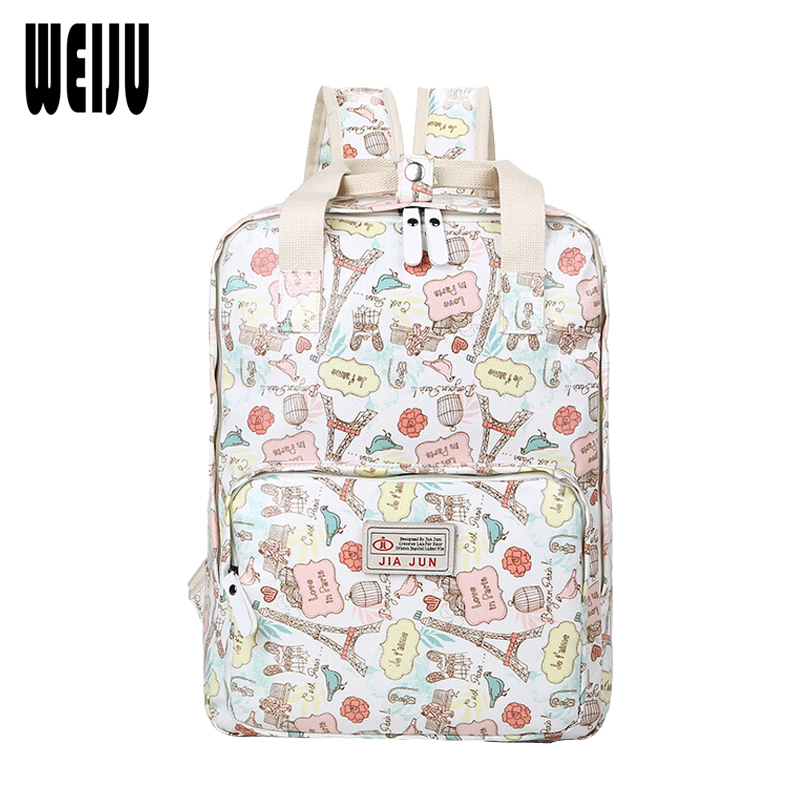 61bac04d9dc7 WEIJU New Floral Print Women Backpack 2017 Brands Computer Backpacks School  Bags For Teenage Girls Mochila Escolar-in Backpacks from Luggage   Bags on  ...
