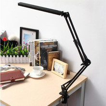 LED Desk Lamp Foldable Adjustable Pure White Swing Arm Touch Dimmable Eye Care Table Lamp цена