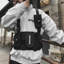 Mens breastplate hip hop streetwear unisex feature pack military tactical chest bag cross Backpack new Fashion Wais