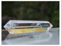 6 Taraflı Prizma Stil Temizle Doğal Kuvars Kristali Çift Sonlandırıldı Nokta Büyük 3 Inç Değnek 1pxa