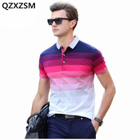 MR JIM Cotton Men Polo Shirt Summer Fashion Striped Quality Short Male Polo Men Top Tee