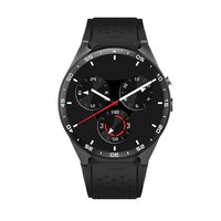 KW88 Smart Watch for Android 5.1 OS - Black Tarnish/Black Gold