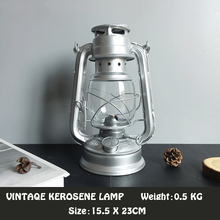 ФОТО vintage iron kerosene lamp figurines outdoor camping lights creative handmade crafts home decoration practical friends gift m005