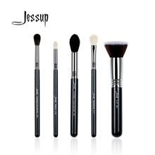 Jessup 5Pcs High Quality Pro Makeup Brush Set Foundation Blend Contour Eye shadow Highlighter Make up brush Beauty Tools Kits