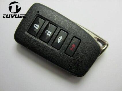 Смарт пульт дистанционного ключа оболочки карта для бесключевого доступа случае 4 кнопки для Lexus IS/ES/GS/NX/RX смарт карты с аварийным лезвием