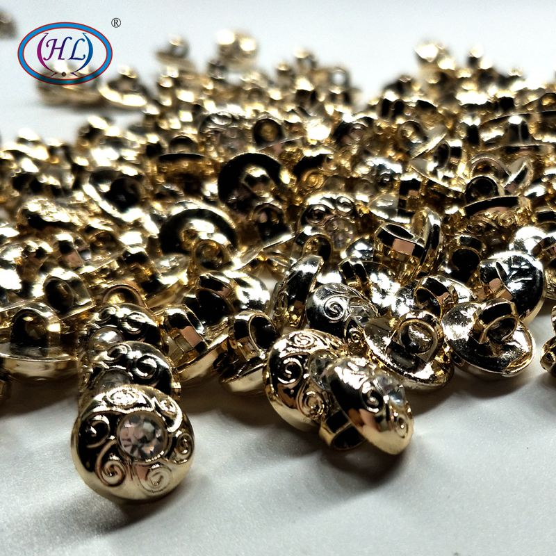 HL 30pcs package 12mm Shank With Rhinestone Plating Buttons Shirt Sweater Apparel Sewing Accessories Crafts in Buttons from Home Garden