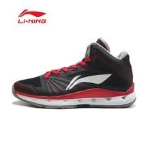 Li Ning Men font b Basketball b font Shoe breathable wear resisting Shock Absorption high Cut