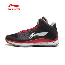 Li-Ning Men Basketball Shoe breathable wear-resisting Shock Absorption high Cut Men Lining Basketball Shoe ABFK029