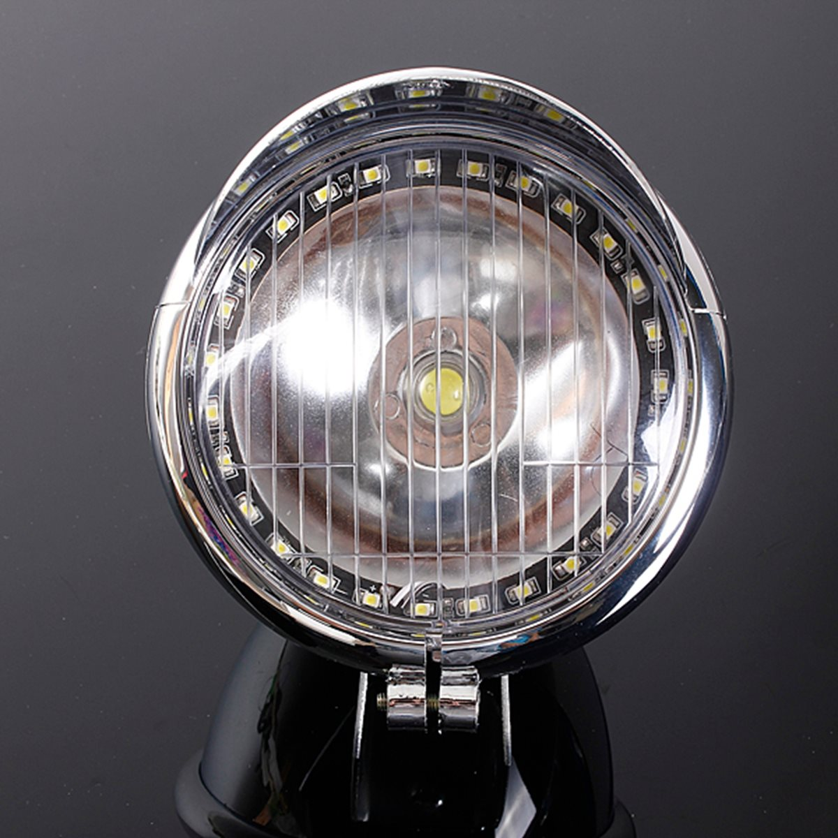 Prix pour 12 V Moto 27LED Angel Eye Lumière Brouillard Lumière 1COB LED Phare Lampe Pour Harley Chopper/Bobber Cruiser