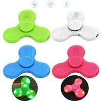 100pcs Wholsale DHL Free Bluetooth LED Light Glow In The Dark Wireless Fidget Spinner EDC Finger