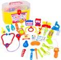 30 unids/set niños Doctor Play House juguetes caja de la medicina simulación juguetes médico estetoscopio inyecciones poco sets de juegos regalos de los niños