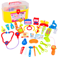 30pcs/set Children doctor Play House Toys Simulation Medicine Box Doctor Toys Stethoscope Injections Little Playsets kids gifts