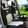 4 COR Frete grátis Bordado do logotipo Do Carro Tampa de Assento Dianteiro & Traseiro SUV completo 5 Assento Assento de carro Para PEUGEOT 3008 4008 2008 Quatro estações