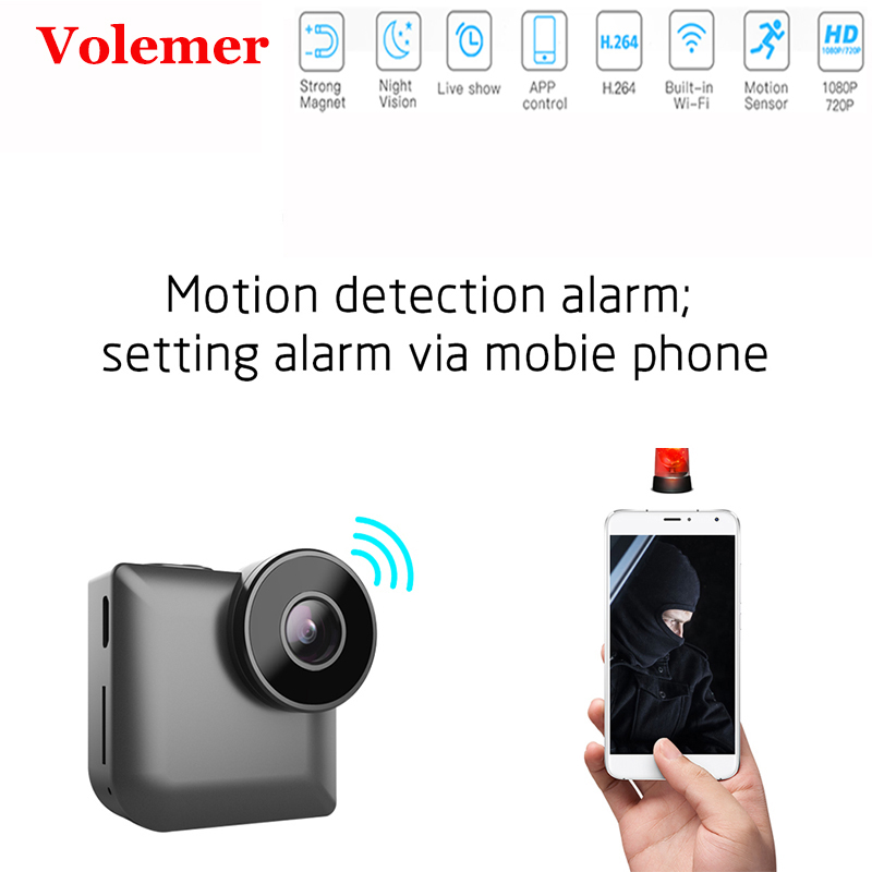 Volemer C3 Mini Camera Wireless WiFi Home Security Video Cam HD 1080P IR Night Vision Motion