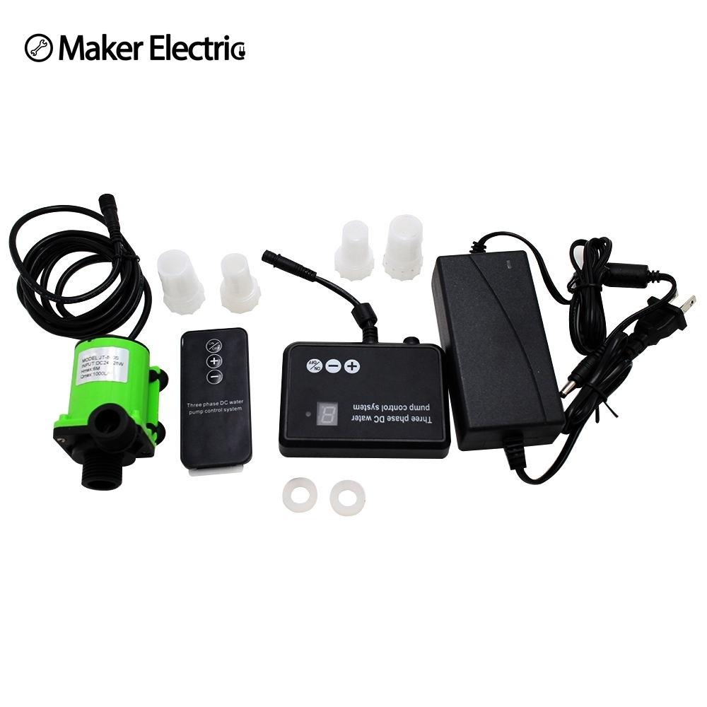 Frequency control of motor speed DC24V 1.2A 1000L/H Water Pump with wireless remote control and Control panel System Free ship k654 420 frequency conversion speed control module