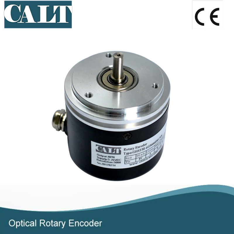 Solid shaft incremental rotary encoder- GHST58 series synchronous flange 8mm optical motor encoder dhc40m6 500 pulse encoder incremental solid shaft rotary encoder sensor