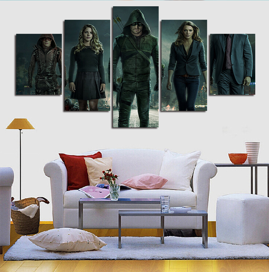 Wall art decor paintings - 5 Panels Home Decor Canvas Wall Art Decor Painting Mass Effect Wall Picture Canvas Art Print From Photo On Canvas For The House In Painting Calligraphy