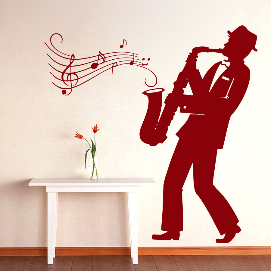 Y Singing Musical Note Wall Art Decal Sticker Diy Home Decoration All That Jazz Concert Quote Decor Poster