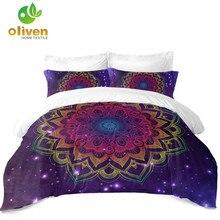 Colorful Mandala Bedding Set Bohemia Tie Dyeing Flower Duvet Cover Girls King Queen Pillowcase Bedroom Decor D35