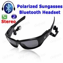 New Cool Fashion Inteligente Polarizada óculos de Sol Sem Fio Bluetooth Headset Estéreo Destacável Speaker Fone De Ouvido para o iphone X Samsung