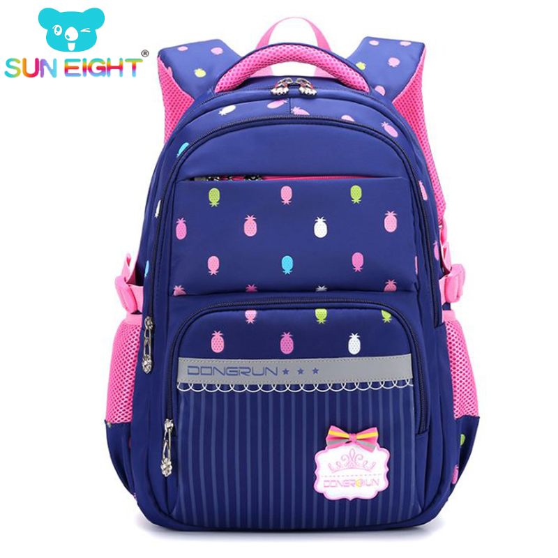 цена Beautiful Pineapple Printing Waterproof School Backpack For Girls School Bag For Teenager Bags For Girl Big Capacity