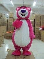 Pink Losto Bear Mascot costume Pink Bear Mascot Costume Fancy Party Dress Suit