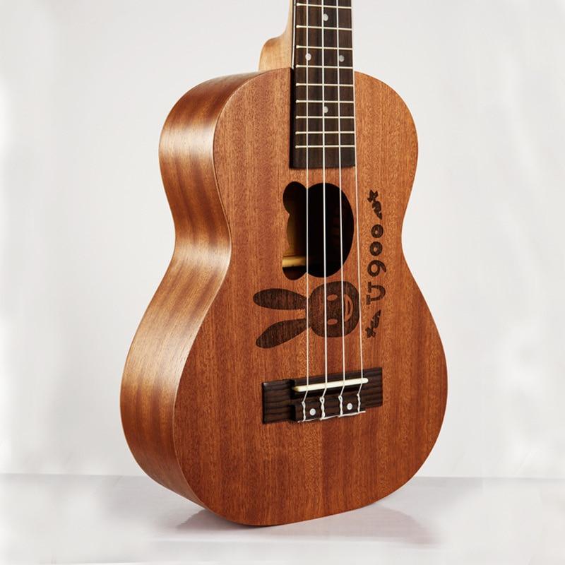 Afanti Music 21 inch small Guitar / Sapele / 21 inch Ukulele (DGA-104) zebra professional 24 inch sapele black concert ukulele with rosewood fingerboard for beginner 4 stringed ukulele instrument