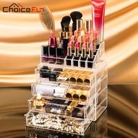 CHOICEFUN Extra Large 4 Drawers Jewelry Box Acrylic Makeup Organizer Cabinet Bracelet Rings Beads Organizador Box