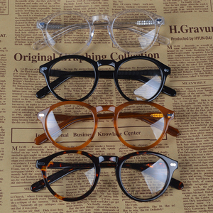 Image 2 - Retro Round Small Acetate frame optical eyeglasses frame clear lens glasses frame women men myopia spectacles prescription frame