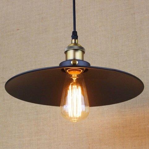 ФОТО American Loft Iron Art Pendant Light Simple Industrial Vintage Lighting For Living Dining Room Hanging Lamp Lamparas Colgantes