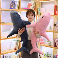 1pc 100cm Big Size Funny Soft Bite Plush Shark Toy Pillow Appease Cushion Gift For Children Girls Birthday Gift Home Decoration