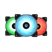 3pcs DF 12025 RGB TRIO RGB 4Pin Temperature Controlled Cooling Fans Cooler for PC Computer Case