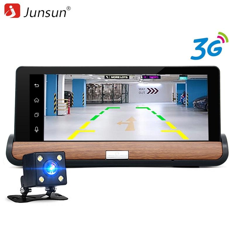 Junsun 3G 7 Car GPS DVR Camera Android 5.0 wifi Dual Lens Full HD 1080P Video Recorder with Rear view Camera Automobile dashcam junsun wifi car dvr camera novatek 96655 imx 322 full hd 1080p universal dashcam video registrator recorder app manipulation