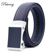 PATEROY Belt Men's Genuine Leather For Jeans Designer Belts For Men High Quality Automatic Buckle Strap Luxury Ceinture Homme