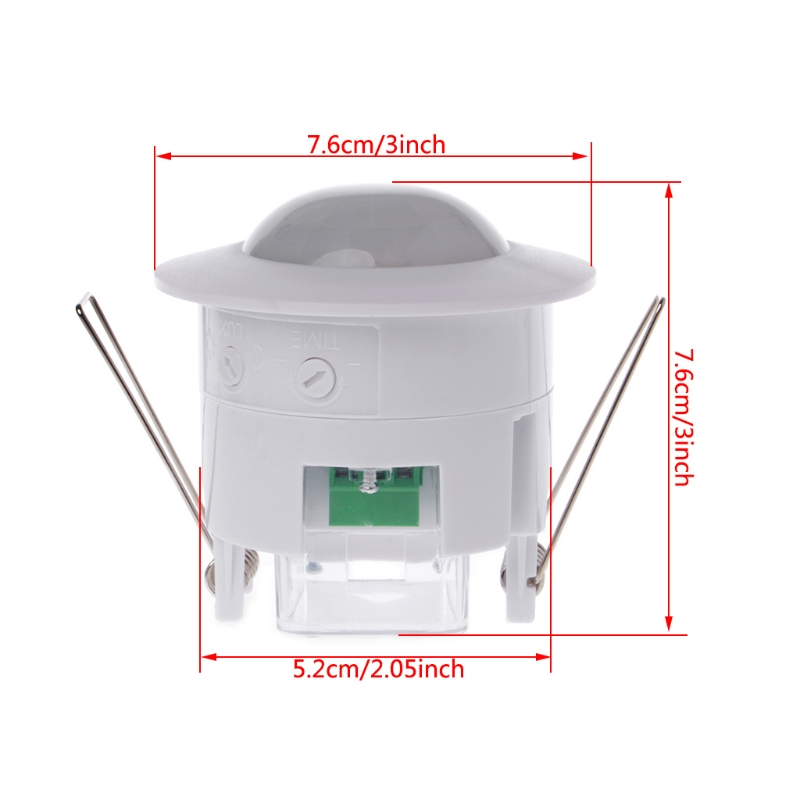 1PC 110-240V AC Adjustable 360 Degree Ceiling PIR Infrared Body Motion Sensor Detector Lamp Light Switch indoor 360 degree ceiling pir motion detector infrared sensor light switch nc no output options pir alarm intruder from douwin
