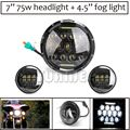 "1 Set 7"" Round H4 Hi/Low Beam LED Headlamp headlight with 4.5 Passing Lamps 4.5"" Led Fog Light  for Harley Davidson Daymaker"