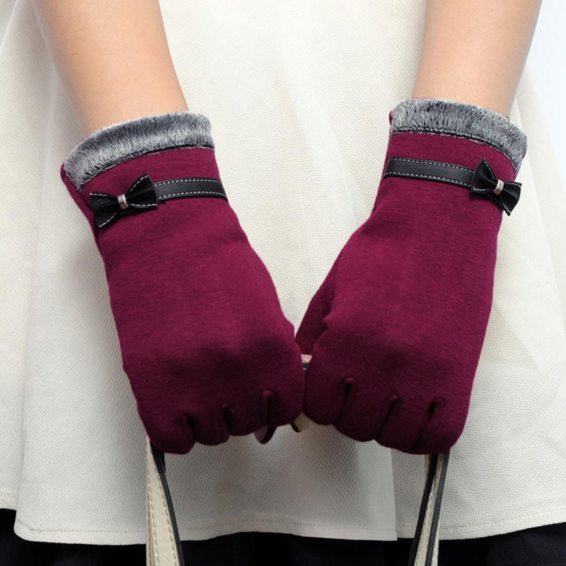 NAIVEROO Waterproof and Warm Touch Screen Gloves made of PU Leather and Conductive Fibers for Women Suitable for Spring and Winter 26