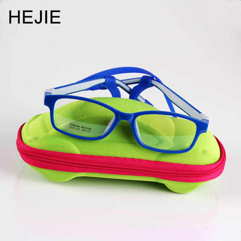 Classic Kids Safe Silicone Clear Lens Optical Eyeglasses Frames No Screw Unbreakable Boys Girls Children Size 49-15-130mm 519