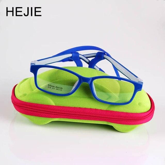 39673e059b Clásico Seguro para los niños de silicona claro lente óptica marcos de  anteojos No tornillo irrompible
