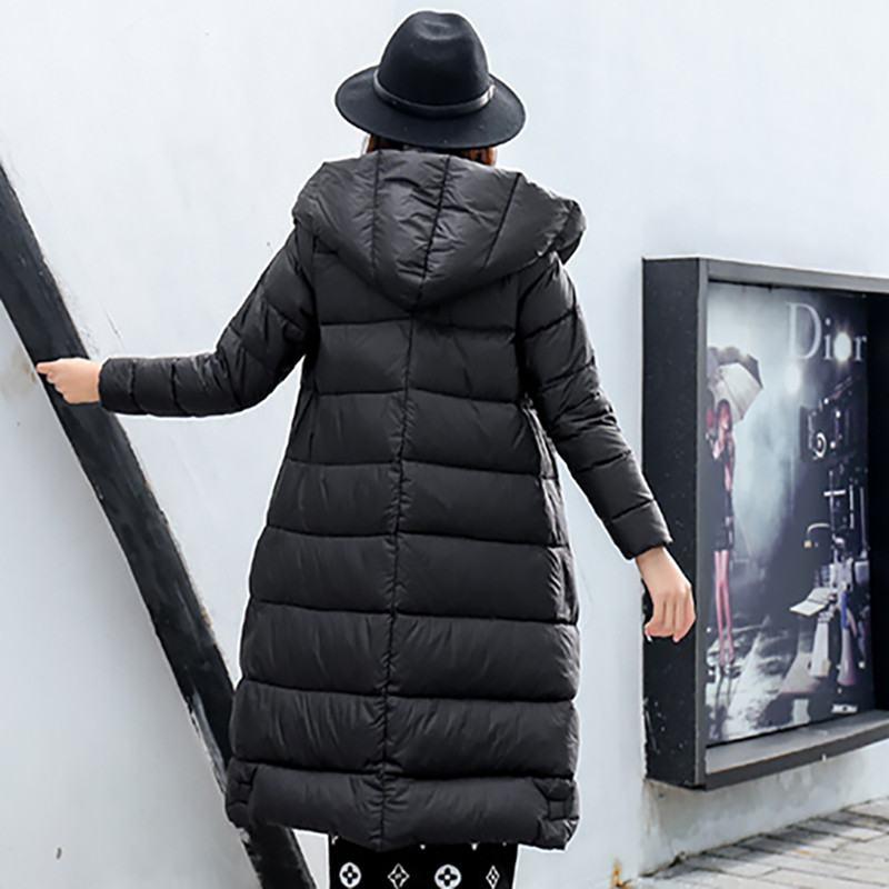 Parka De Se Lv Le À 2019 Outwear Capuchon Manteau Femme Bas Neige Femmes Slim Chaud rouge Vers Veste Mo D'hiver Duvet Y06 Longue Blanc Casual ca Épais Fei Canard xwfzAOwqS