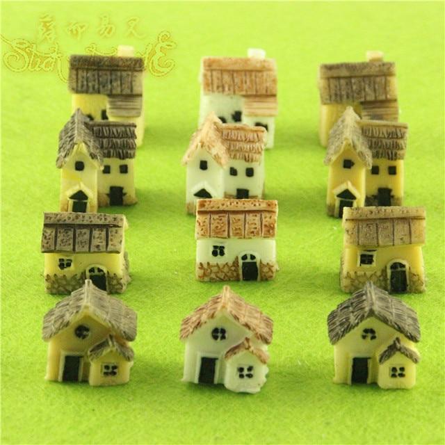 12pcs Lot Resin House Plants Micro Landscape Vase Bonsai Figurines