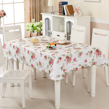 Home Furnishing PVC Plastic Waterproof Defence Oil Tablecloth Wave Edge Table Cloth Rectangle Square,Round Table Tea Table Cloth