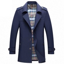 Mens Trench Coats Male Blazer Designs Slim Fit Business Casual Suit Ja