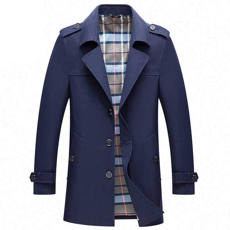 Mens   Trench   Coats Male Blazer Designs Slim Fit Business Casual Suit Jacket V-Neck Thin Spring Autumn   Trench   Jackets Windbreaker