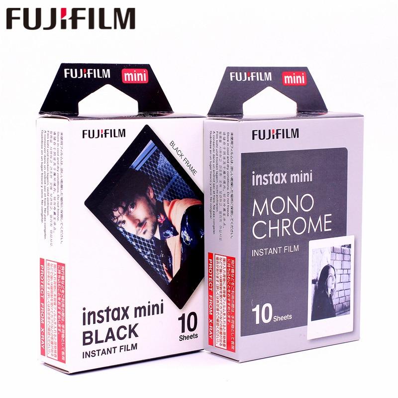 Подлинная пленка Fujifilm Instax Mini8 10 шт монохромная моно + 10 шт черная пленка фото для мини 8 9 25 70 90 пленка камера SP-1 SP-2