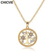 Chicvie золотые ожерелья и подвески с хрустальным деревом имитация