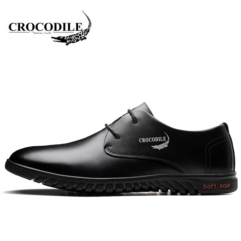 Здесь продается  Crocodile 2018 New Men Leatherwear Walking Shoes Male Flat Sport Shoes Breathable Height Increase Men