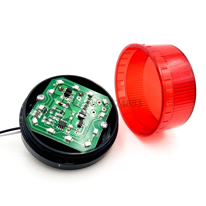 Купить с кэшбэком Indicator light signal light TB35 N-3071 12V 24V 220V Flashing warning LED lamp security alarm IP44