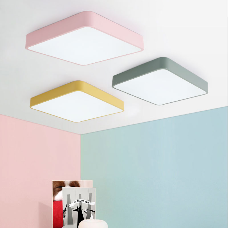 Iron SIZE 30cm square lamps LED ceiling lights height 5cm Ironware and Acrylic kitchen bed room foyer study LED light fixture